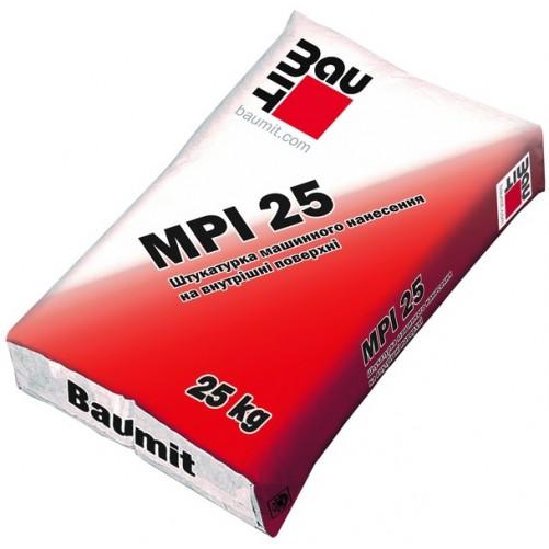 Штукатурная цементно-известковая смесь Baumit MPI 25 для внутренних работ, 25 кг