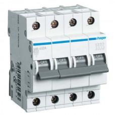 Автоматический выключатель 16A, 4п, C, 6kA, MC416A Hager