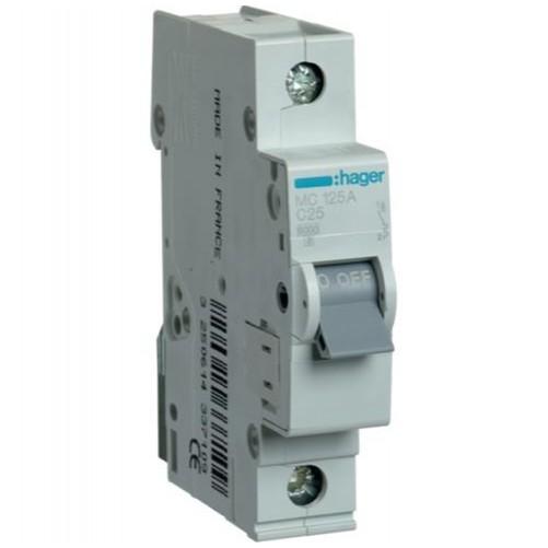 Автоматический выключатель 1п, 25А, С, 6kA, MC125A HAGER