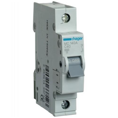 Автоматический выключатель 1п, 40А, C, 6kA, MC140A HAGER
