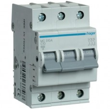 Автоматический выключатель 10A, 3п, C, 6kA, MC310A Hager