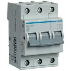 Автоматический выключатель 16A, 3п, C, 6kA, MC316A Hager