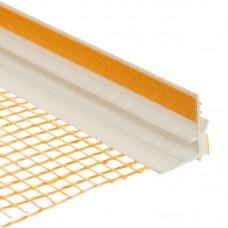 Профиль оконный примыкающий с сеткой 6 мм, 2,4 м