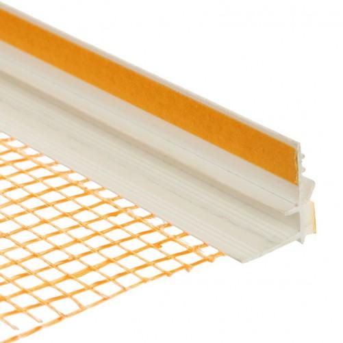 Профиль оконный примыкающий с сеткой 6 мм, 2,4м