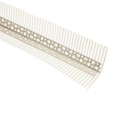 Уголок пластик. со стеклосеткой, 8х12мм, 2,5м