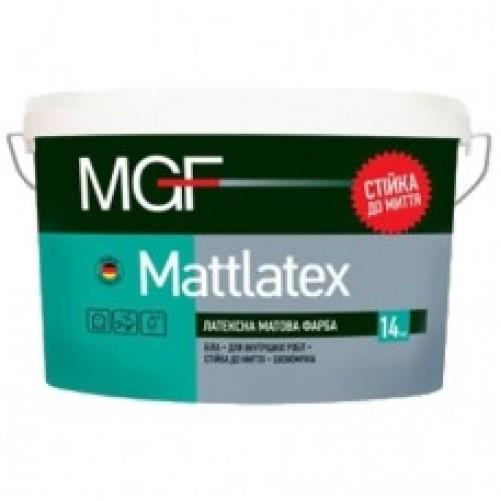 Интерьерная латексная краска матовая MGF М100 14 кг