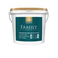 Интерьерная акриловая краска матовая Kolorit Family, 9 л