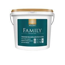 Интерьерная акриловая краска матовая Kolorit Family, 4,5 л