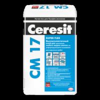 Ceresit СМ-17 Super Flexible эластичный клей для плитки, 25кг