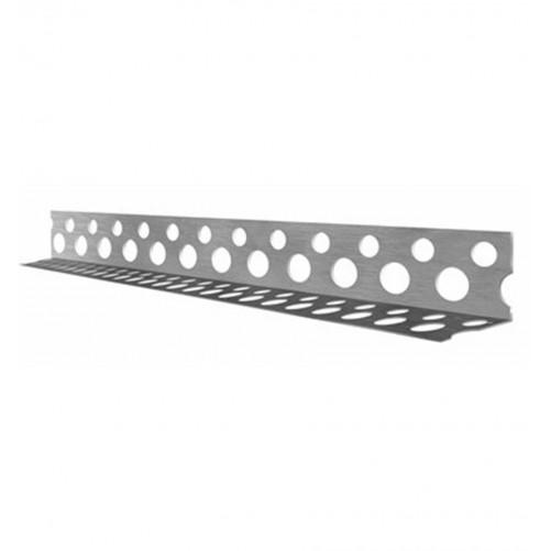 Уголок алюминиевый перф., 25х25мм, 2,5м