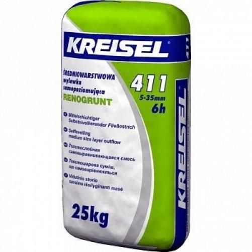 Kreisel 411 Смесь для пола самовыравнивающаяся 5-35 мм 25кг (пал. 42шт)