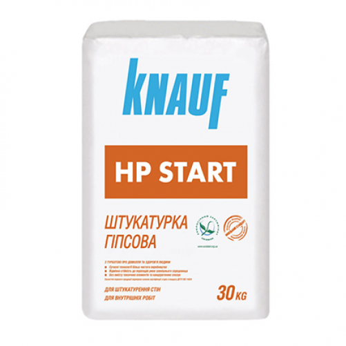Штукатурка Knauf HP Start (ХП старт) гипс. стартовая, 30 кг